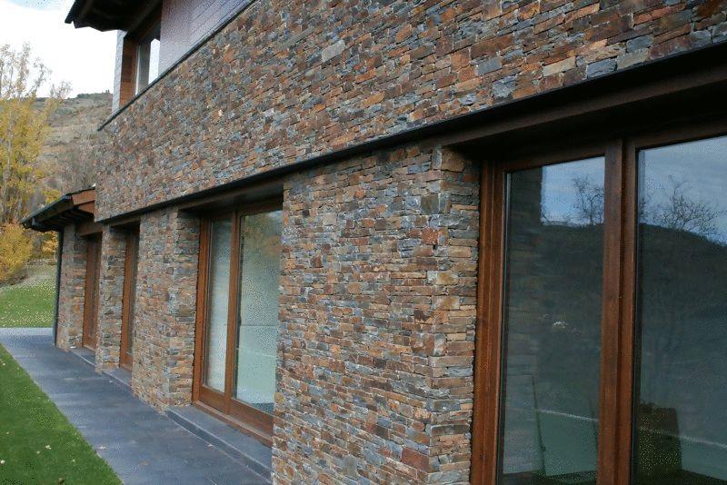 Tipo de piedra puigcerd la cerdanya piedra pizarra for Revestimiento de paredes exteriores baratos